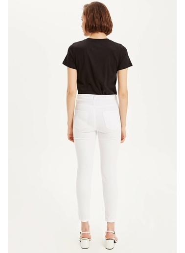 DeFacto Anna Yüksek Bel Super Skinny Chino Pantolon Beyaz
